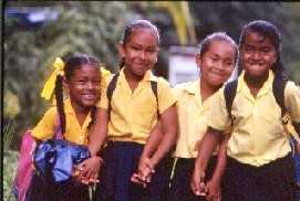 Happy School Children in Dominica