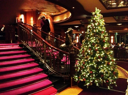 Christmas Decorations onboard the Norwegian Gem